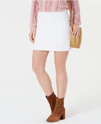 Style&Co. Style & Co Frayed Pull-On Denim Skort
