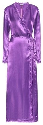 Attico Raquel satin wrap dress