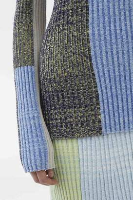 3.1 Phillip Lim Exclusive: Marled Mixed-Patchwork Turtleneck
