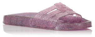 George Glitter Jelly Sandals