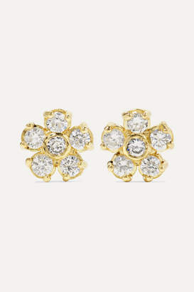 Jennifer Meyer Flower 18-karat Gold Diamond Earrings
