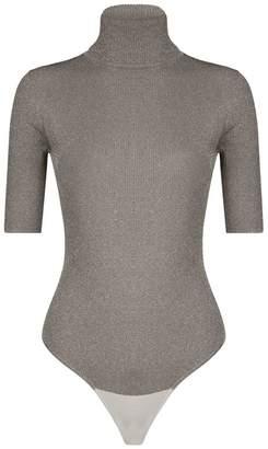 3.1 Phillip Lim Metallic Lurex Ribbed Bodysuit