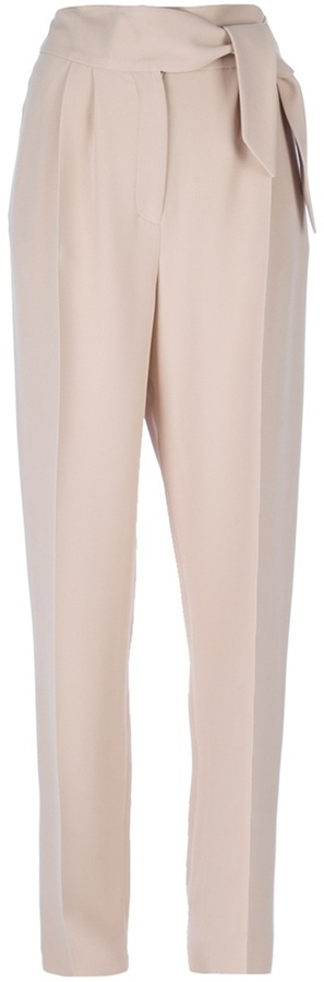 Valentino belted tapered trouser