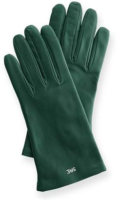 Mark And Graham Women's Italian Leather Classic Gloves, Jewel-Toned