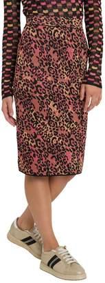 M Missoni Animal Print Midi Skirt