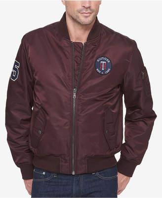 Tommy Hilfiger Men's Varsity Patch Bomber Jacket
