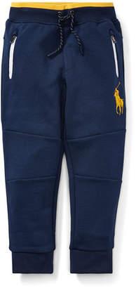 Ralph Lauren Logo-Embroidered Drawstring Sweatpants, Size 5-7