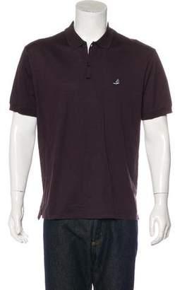 Lanvin Sneaker-Appliqué Piqué Polo Shirt
