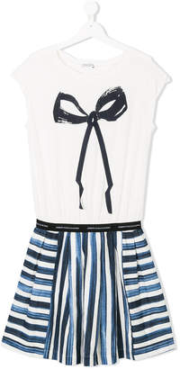 John Galliano TEEN bow print dress
