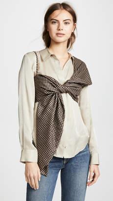 Leal Daccarett Ilaria One shoulder Crop Top
