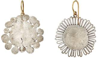 Judy Geib Women's Mismatched Flower-Shaped Earrings