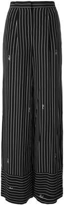 Karl Lagerfeld striped wide-leg trousers