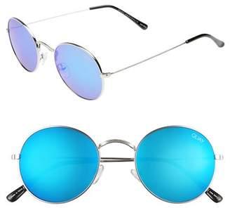 Quay 50mm Mod Star Round Sunglasses