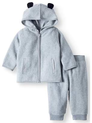 Garanimals Micro Fleece Hoodie & Pants, 2pc Outfit Set (Baby Boys)