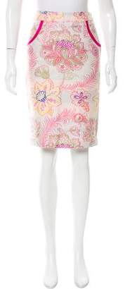 Matthew Williamson Jacquard Pencil Skirt