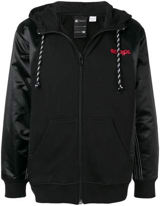 adidas By Alexander Wang zipped logo hoodie