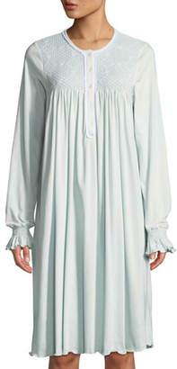 579d26a3cf P Jamas Fernanda Long-Sleeve Cotton Short Nightgown