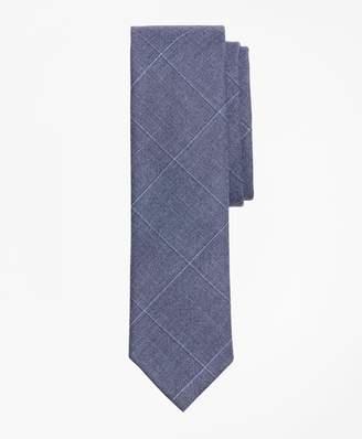 Brooks Brothers Windowpane Wool Twill Tie