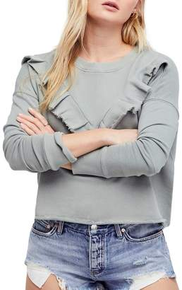 Free People Ooh La Ruffle Sweatshirt