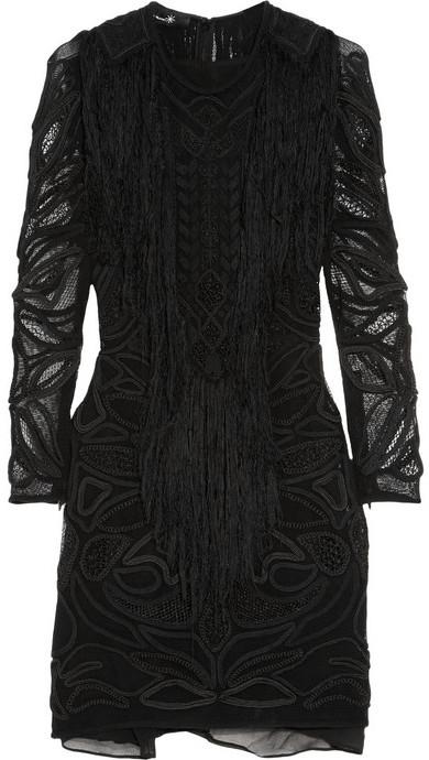 Isabel Marant Nelcie embellished lace mini dress