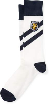 Ralph Lauren Striped Crest Trouser Socks