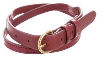 Steven Alan Leather Buckle Belt