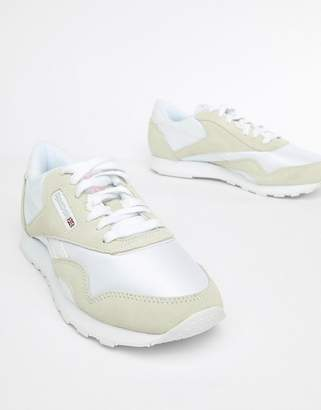 43ef5dfaad4 Reebok Classic Nylon White And Cream Trainers