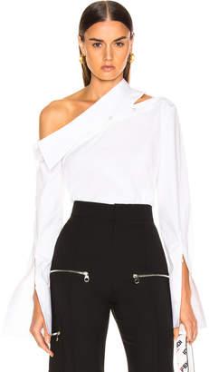 Monse Diagonal Slashed Shoulder Shirt