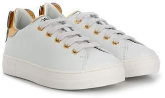 Moschino Kids contrast heel counter sneakers