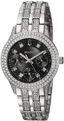 Bulova Women's 'Swarovski Crystal' Quartz Stainless Steel Casual Watch