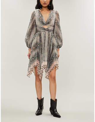 Zimmermann Python-print crepe dress