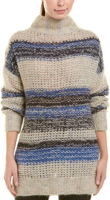 BCBGMAXAZRIA Turtleneck Wool & Mohair-Blend Tunic