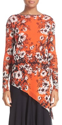 Women's Fuzzi Floral Print Tulle Top $395 thestylecure.com