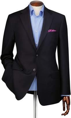 Charles Tyrwhitt Slim Fit Navy Wool Perfect Wool Blazer Size 40