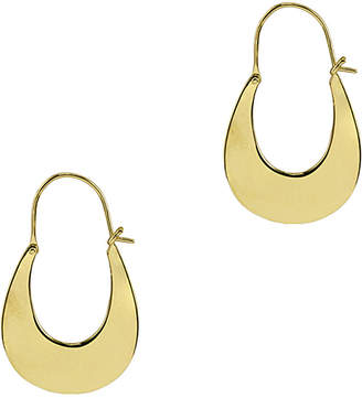 Argentovivo 18K Over Silver Hoops