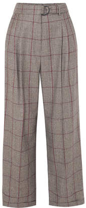Brunello Cucinelli Prince Of Wales Checked Wool Pants - Brown