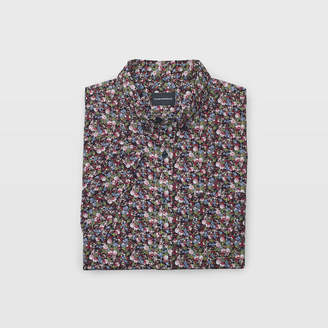 Club Monaco Short-Sleeve Tiny Floral Shirt