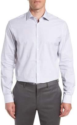 John Varvatos Micro Plaid Regular Fit Dress Shirt