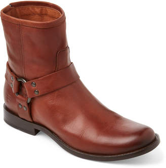 Frye Cognac Phillip Harness Short Leather Boots