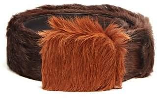 Prada Calf Hair Belt - Mens - Brown Multi