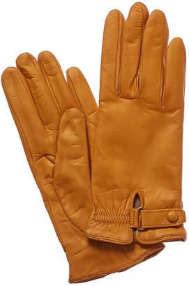 Portolano Honey Cashmere-Lined Leather Gloves