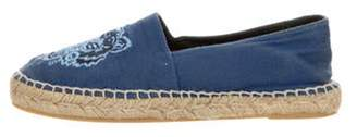 Kenzo Embroidered Round-Toe Espadrilles Blue Embroidered Round-Toe Espadrilles