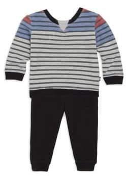 Splendid Baby's Two-Piece Stripe Top & Jogger Set
