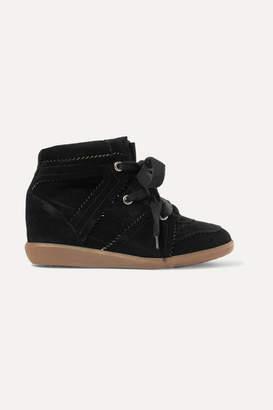 7021df93e441 Isabel Marant Bobby Suede Wedge Sneakers - Black