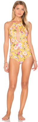 BEACH RIOT Golden One Piece $160 thestylecure.com