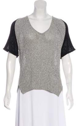 Helmut Lang Colorblock Knit Top