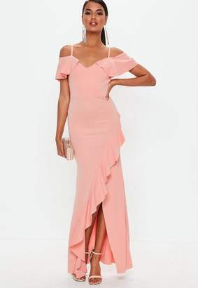 Missguided Strappy Cold Shoulder Maxi Dress