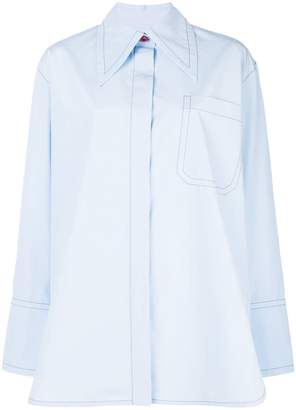 Marni pointed collar shirt