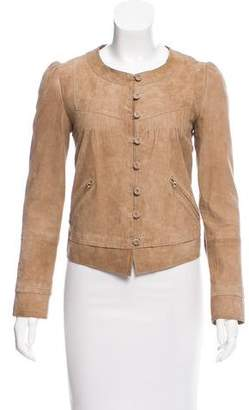 See by Chloe Suede Collarless Jacket