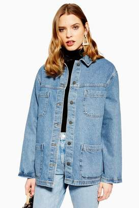 Topshop Womens Oversized Denim Shacket